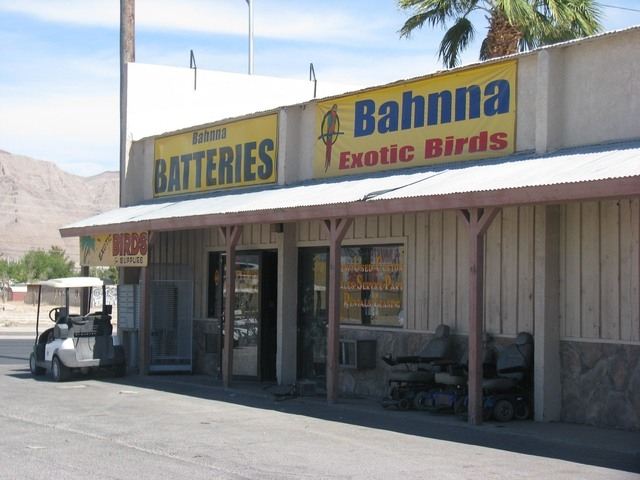 Bahnna's, 1235 N. Nellis Blvd., has been at the same location for more than 30 years, offering batteries, golf carts and exotic birds. F. Andrew Taylor/View