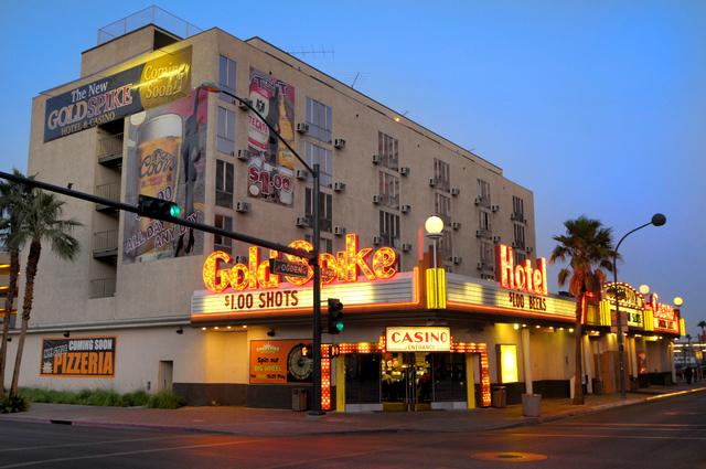 Gold Spike hotel & casino Downtown Las Vegas 10/10/08 Courtesy Las Vegas News Bureau