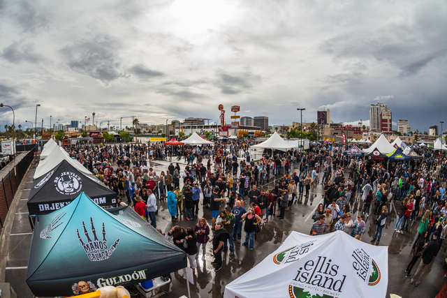 Attendees mingle during the sixth annual Great Vegas Festival of Beer April 9. Special to View