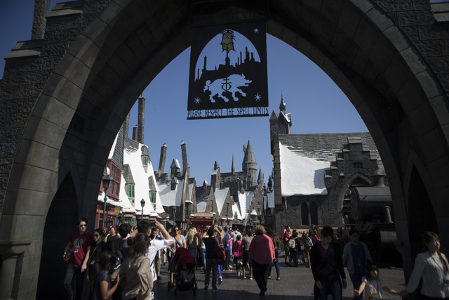 The entrance to The Wizarding World of Harry Potter at Universal Studios is seen on Friday, March 18, 2016, in Universal City, Calif. Erik Verduzco/Las Vegas Review-Journal Follow @Erik_Verduzco