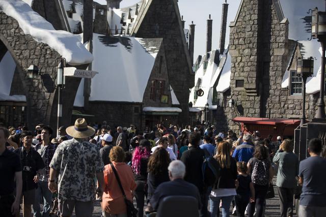 People tour The Wizarding World of Harry Potter at Universal Studios on Friday, March 18, 2016, in Universal City, Calif. Erik Verduzco/Las Vegas Review-Journal Follow @Erik_Verduzco