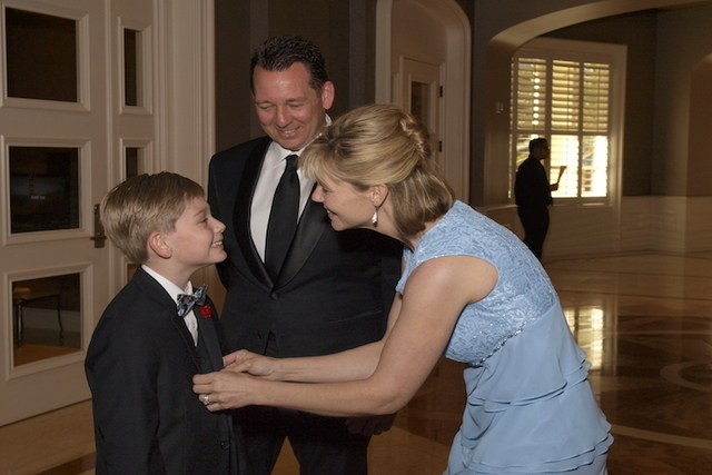 Larson, 8, Deanne and Larry Foster during the Las Vegas Heart Ball at the Four Seasons Las Vegas Saturday, April 23, 2016. The ball is a major fundraising event benefiting children's heart and str ...
