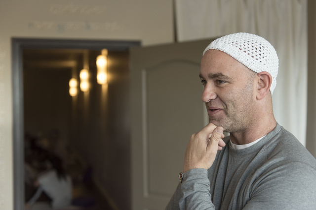 Holistic House Las Vegas founder Justin Hoffman speaks with a reporter at RYK Yoga & Meditation Center at 8450 W. Sahara Ave., No. 109, March 21. Jason Ogulnik/View
