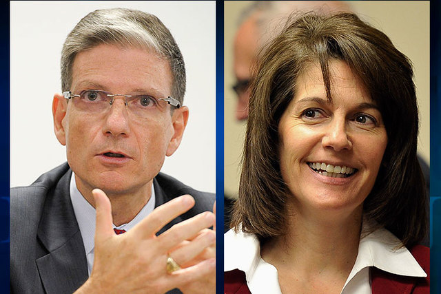 U.S. Rep. Joe Heck, R-Nev., and former Nevada attorney general Catherine Cortez Masto, a Democrat, are running for Harry Reid's U.S. Senate seat. (Las Vegas Review-Journal files)