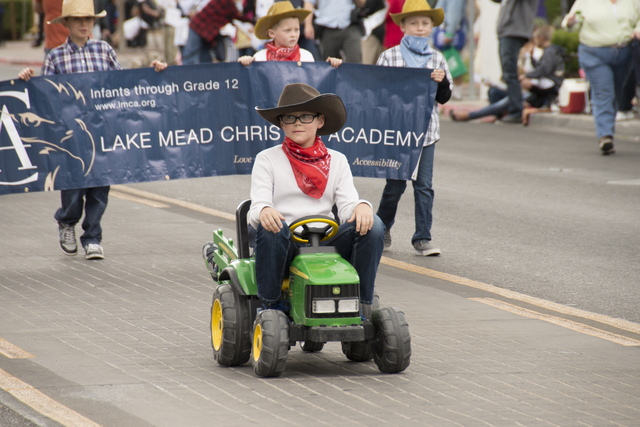 Lake Mead Christian Academy takes part in the Henderson Heritage Festival & Parade in 2014. This year's event is planned for April 23 in the Water Street District. View file photo
