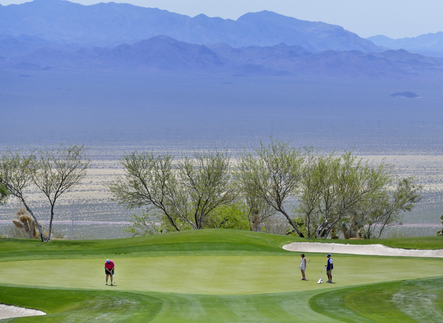 Part of the Cascata Golf Course is shown at 1 Cascata Drive in Boulder City on Thursday, April 21, 2016. Bill Hughes/Las Vegas Review-Journal