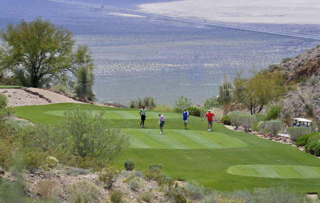 Part of the Cascata Golf Course is shown at 1 the Cascata Drive in Boulder City on Thursday, April 21, 2016. Bill Hughes/Las Vegas Review-Journal