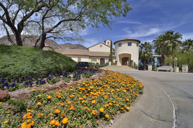 The exterior of the clubhouse at the Cascata Golf Course is shown at 1 Cascata Drive in Boulder City on Thursday, April 21, 2016. Bill Hughes/Las Vegas Review-Journal