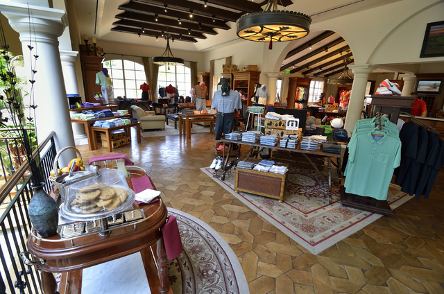Part of the pro shop is shown at the Cascata Golf Course at 1 Cascata Drive in Boulder City on Thursday, April 21, 2016. Bill Hughes/Las Vegas Review-Journal