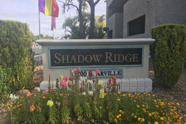 A man with gunshot wounds was found unconscious in a car just after midnight at Shadow Ridge apartments. The man died later at a hospital. (Bizuayehu Tesfaye/Las Vegas Review-Journal)