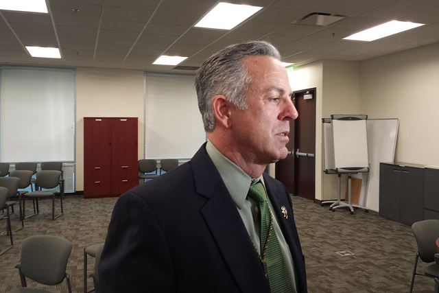 Sheriff Joe Lombardo is seen Monday, April 27, 2015. (Colton Lochhead/Las Vegas Review-Journal)