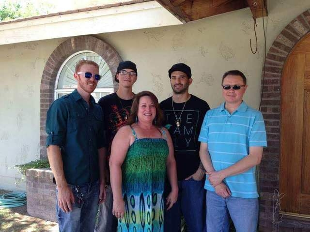 Matthew Christensen, left, pictured with brothers Curtis, center, and Reggie, right, along with their mother, Theresa, and father, Dennis. (Courtesy of Reggie Christensen)
