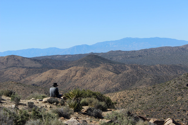 A view from the top of Ryan Mountain in Joshua Tree National Park on Saturday, April 2, 2016. (Alexander S. Corey/Las Vegas Review-Journal)