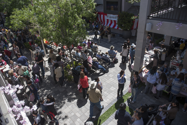 People attend a Japanese Spring Festival presented by the local Kizuna Japanese Society on Saturday, April 16, 2016, in Las Vegas. Martin S. Fuentes/Las Vegas Review-Journal