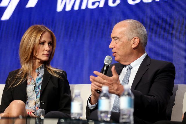 Chairman and CEO of FOX Television Group Dana Walden, left, and Chairman and CEO of FOX Television Group Gary Newman speak during a panel about the FOX show Empire at the National Association of B ...