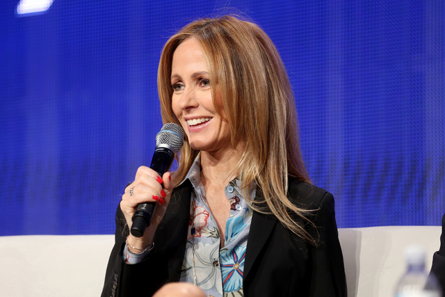 Chairman and CEO of FOX Television Group Dana Walden speaks during a panel about the FOX show Empire at the National Association of Broadcasters conference at the Las Vegas Convention Center Tuesd ...