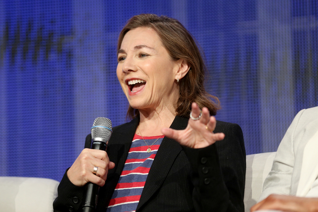 Executive Producer and Showrunner Ilene Chaiken speaks during a panel about the FOX show Empire at the National Association of Broadcasters conference at the Las Vegas Convention Center Tuesday, A ...