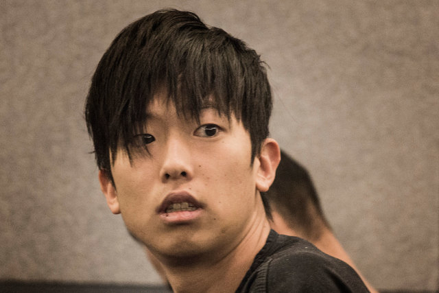 Seong Mo Lee, charged with DUI in fatal crash that killed two teenage sisters, makes his first appearance in Las Vegas Justice Court on Monday, March 9, 2015. (Jeff Scheid/Las Vegas Review-Journal)