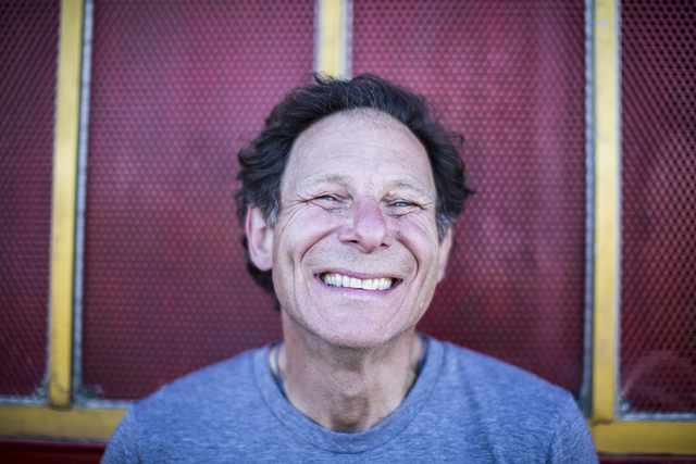 """Scott Cohen, creator of the Life Cube Project, at 9th Street and Fremont Street on Saturday, April 2, 2016, in Las Vegas. """"I was so much joy in my heart,"""" Cohen said. (Benjamin Hager/Las Vegas Rev ..."""