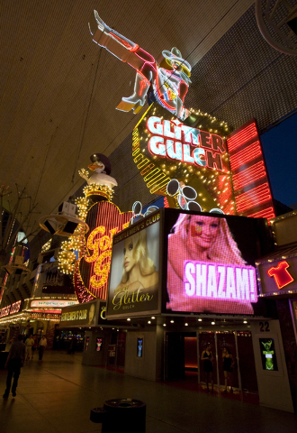 Topless Girls of Glitter Gulch in downtown Las Vegas. (Las Vegas Review-Journal)