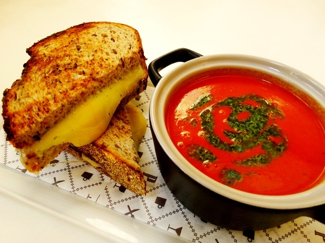 The Best Grilled Cheese and Tomato Soup (Courtesy Veranda)