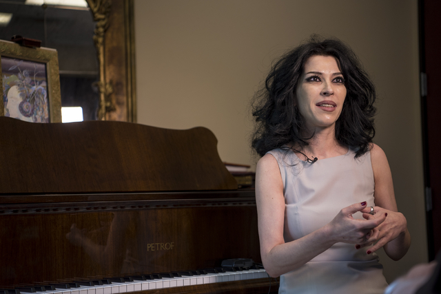 Lilith Tonapetian, a classical music instructor and owner of Renaissance Music Academy, speaks during an interview at Renaissance Music Academy in Las Vegas on Friday, April 8, 2016. Joshua Dahl/L ...