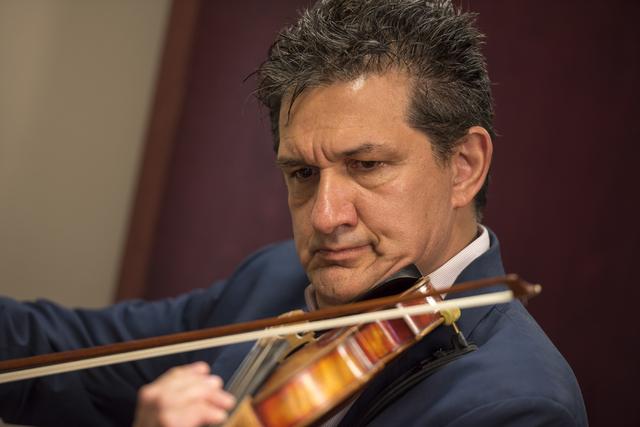 Valaleri Glava, a music instructor, plays the violin at Renaissance Music Academy in Las Vegas on Friday, April 8, 2016. Joshua Dahl/Las Vegas Review-Journal