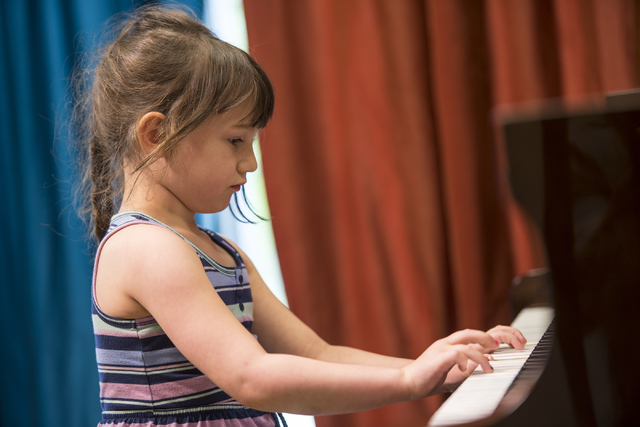 Katarina Rainey a student at Renaissance Music Academy performs on the piano at Renaissance Music Academy in Las Vegas on Friday, April 8, 2016. Joshua Dahl/Las Vegas Review-Journal