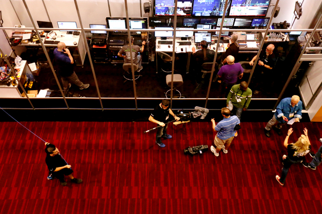 A live broadcasting room at the National Association of Broadcasters convention Sunday, April 17, 2016. Rachel Aston/Las Vegas Review-Journal Follow @rookie__rae