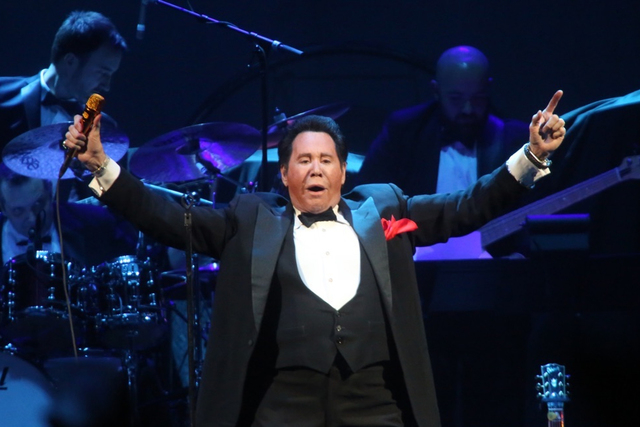 "Wayne Newton performs ""Viva Las Vegas"" on opening night at T-Mobile Arena on April 6. Jeff Scheid/Las Vegas Review-Journal Follow@jlscheid"