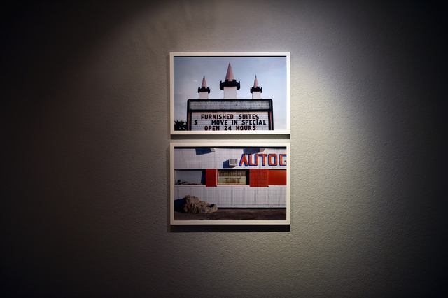 """Photographs by Mikayla Whitmore are displayed at the Left of Center Art Gallery April 15 as part of the """"North East"""" exhibit. David Becker/View"""