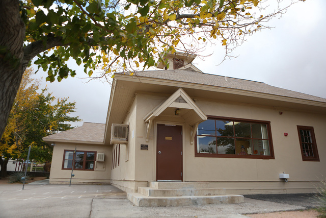 Goodsprings Elementary School is shown Monday, Oct. 28, 2013, in Goodsprings, Nev. The historic two-room elementary school was first used in 1913 and currently has 11 students enrolled ranging fro ...