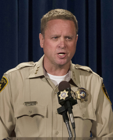 LVMPD Undersheriff Kevin McMahill speaks about last weeks OIS Monday, April 4, 2016 at a news conference at LVMPD Headquarters. Ben Hager/Las Vegas Review-Journal