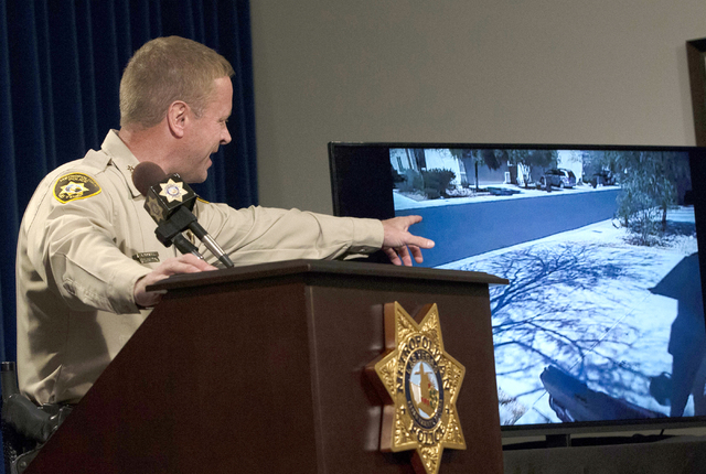 LVMPD Undersheriff Kevin McMahill speaks about last weeks OIS Monday, April 4, 2016 at a news conference at LVMPD Headquarters. Ben Hager/Las Vegas Review-Journa
