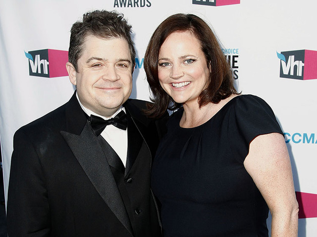 Patton Oswalt, left, and his wife Michelle Eileen McNamara arrive at the 17th Annual Critics' Choice Movie Awards in Los Angeles in 2012. (Matt Sayles/The Associated Press)
