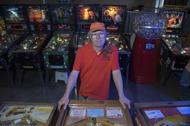 Pinball Hall of Fame owner Tim Arnold is seen at his museum at 1610 E. Tropicana Ave. in Las Vegas on Thursday, April 14, 2016. (Martin S. Fuentes/Las Vegas Review-Journal)