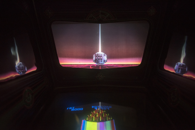 Vintage arcade games can be seen and played at the Pinball Hall of Fame at 1610 E. Tropicana Ave. in Las Vegas on Thursday, April 14, 2016. (Martin S. Fuentes/Las Vegas Review-Journal)