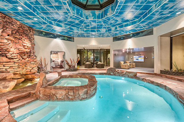 The pool is the star of the home. (COURTESY OF LUXE ESTATES & LIFESTYLE)