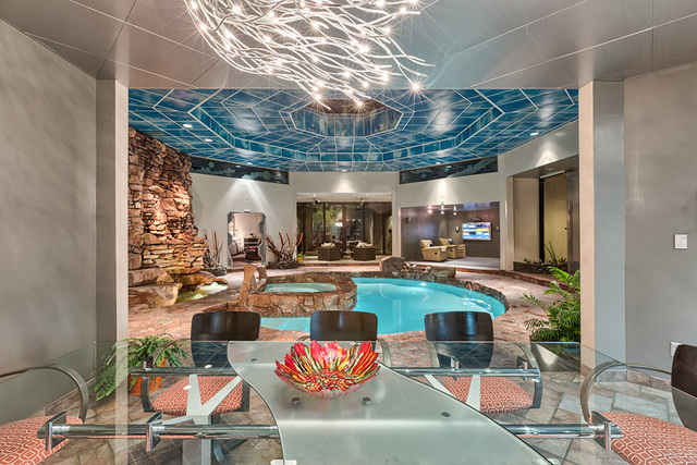 The pool is connected to many rooms. (COURTESY OF LUXE ESTATES & LIFESTYLE)