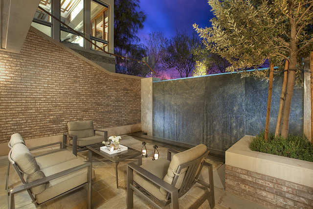 An outdoor patio and lounge. (Synergy Sotheby's International Realty)