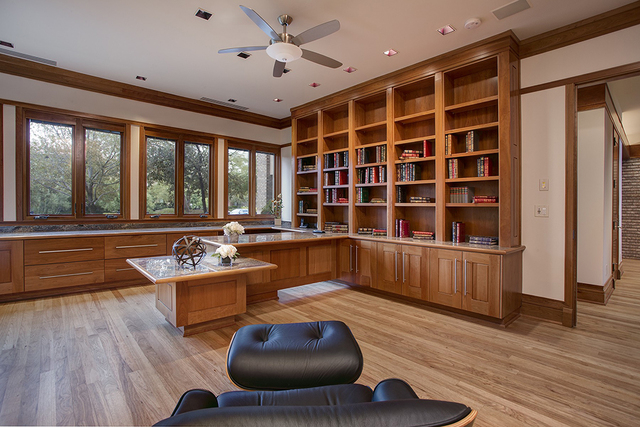 The home has a large office. (COURTESY OF SYNERGY SOTHEBY'S INTERNATIONAL REALTY)