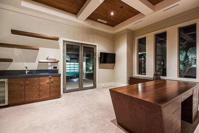 The 11,093-square-foot home at 23 Hawk Ridge in The Ridges in Summerlin has a casita. (Courtesy Shapiro & Sher Group)
