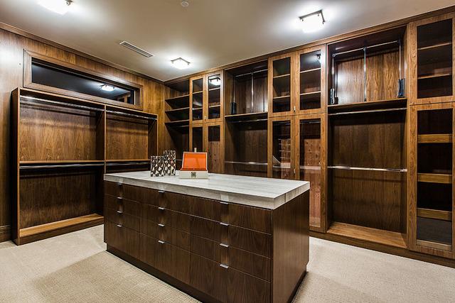 His closet. (Courtesy Shapiro & Sher Group)