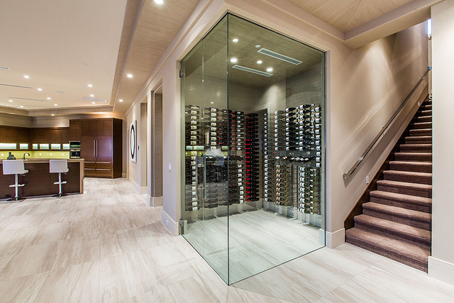 A wine room is near the kitchen. (Courtesy Shapiro & Sher Group)
