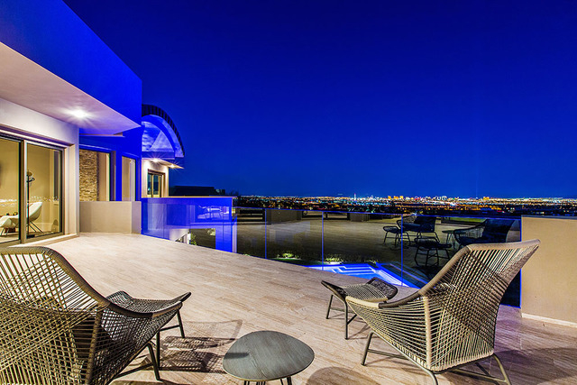 The home has views of the Las Vegas Strip. (Courtesy Shapiro & Sher Group)