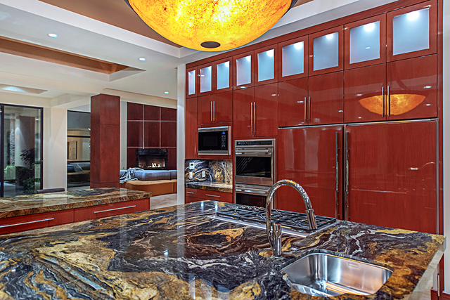 The kitchen has upgraded appliances. (Courtesy Simply Vegas)