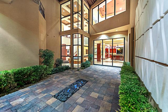 The home has a modern design. (Courtesy Simply Vegas)