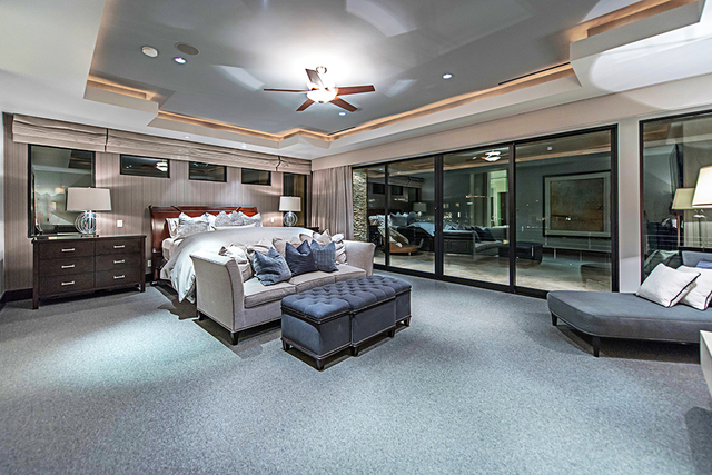 The master suite has its own balcony. (Courtesy Simply Vegas)