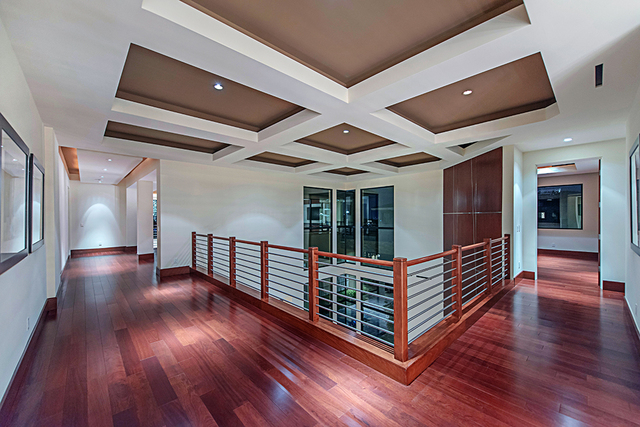 The home's upstairs landing. (Courtesy Simply Vegas)