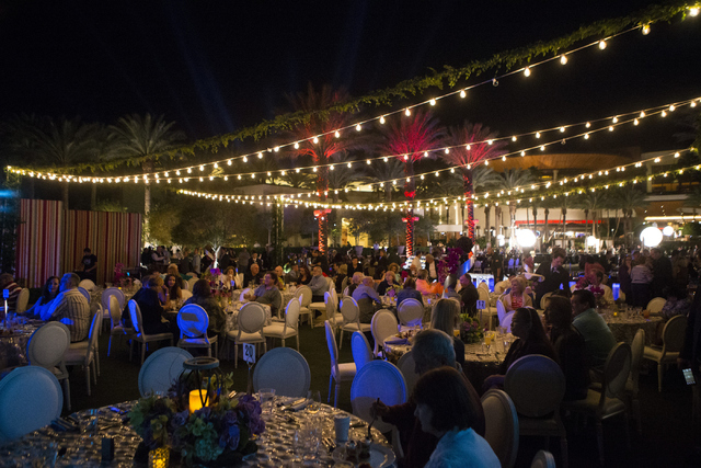 People dine while watching a music performance during the Red Rock Resort 10th birthday celebration at Red Rock casino-hotel on Saturday, April 16, 2016, in Las Vegas. Erik Verduzco/Las Vegas Revi ...